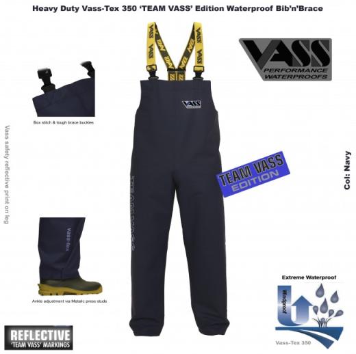 VASS-Tex 350 Squadra Vass Heavy Duty Bib & & & Brace Navy 9120e1