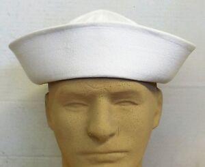 NEW USGI ORIGINAL WHITE U.S. NAVY COTTON SAILOR HAT DIXIE CUP (7¼ ... bdcb9d58721