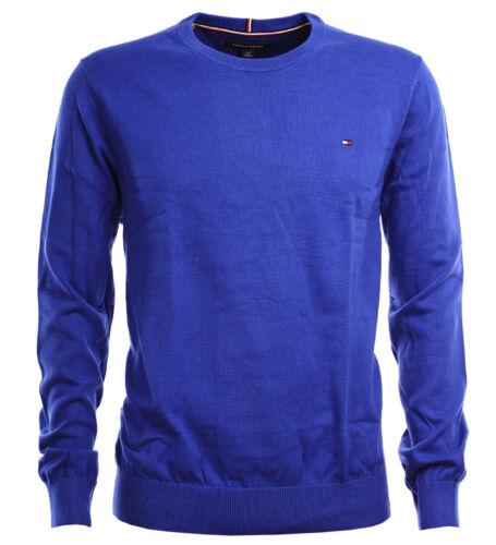 Tommy Hilfiger Herren Rundhals Pullover Feinstrick  royal blue Größe XS-XXL