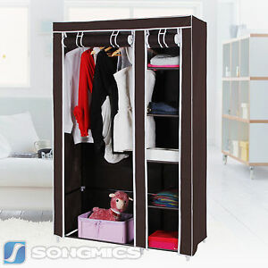 Image is loading Songmics-43-034-Portable-Clothes-Closet-Wardrobe-Storage-