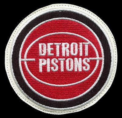 "Expressive 1979-95 Detroit Pistons Nba Basketball Hardwood Classics 4.25"" Team Patch White Memorabilia"