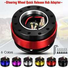 Red Car Quick Release Steering Wheel Snap Off Hub Adapter Boss Kit 6 Hole