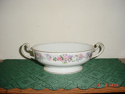 """NORITAKE """"ROSELANE"""" CASSEROLE DISH WITH HANDLES/#5147/PINK FLORAL/CLEARANCE!"""