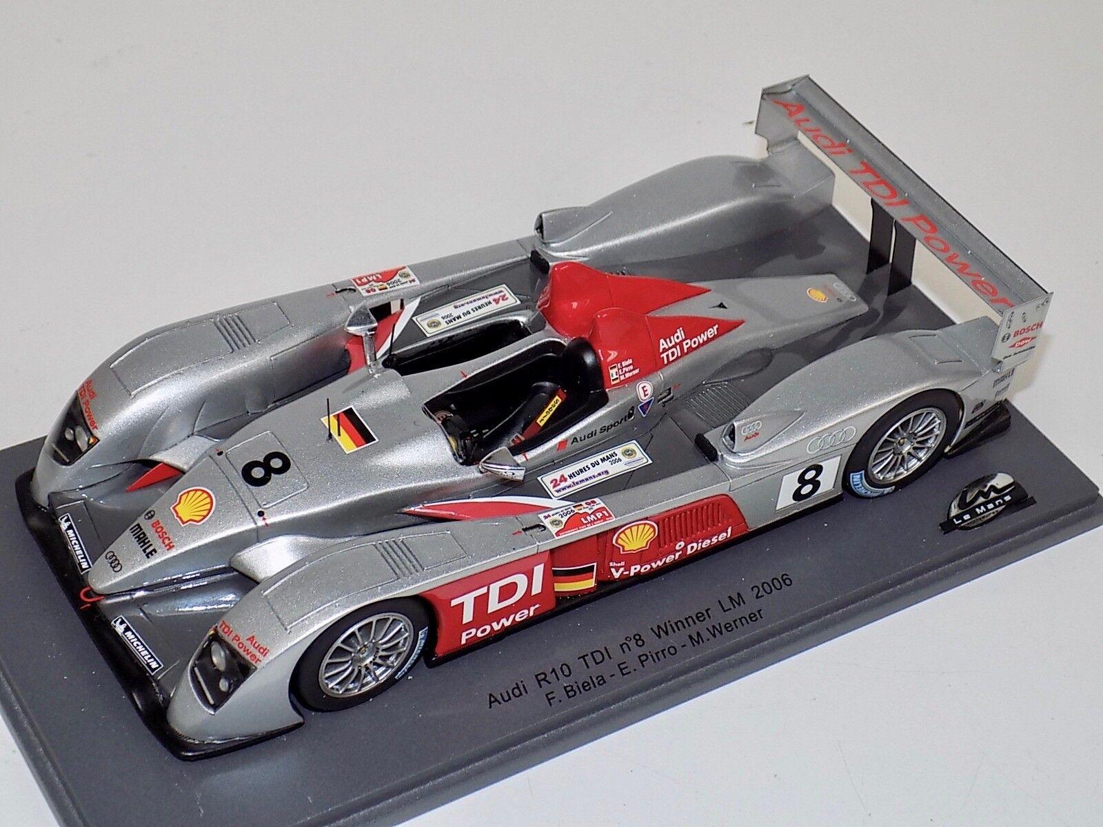 consegna veloce e spedizione gratuita per tutti gli ordini 1 24 Le uomos Miniatures Audo R10 TDI TDI TDI  8 Le uomos 2006 Winner  incredibili sconti