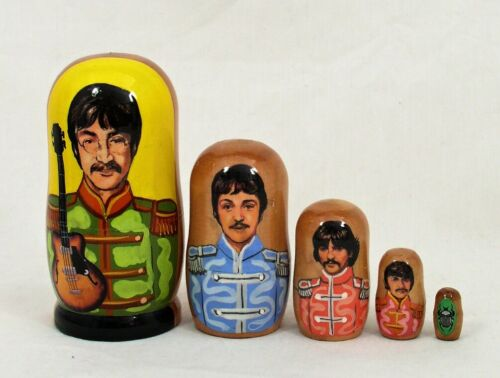 5 pcs Russian Nesting The BEATLES #3663