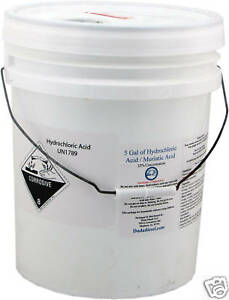 5 Gallon Bucket of Hydrochloric / Muriatic Acid