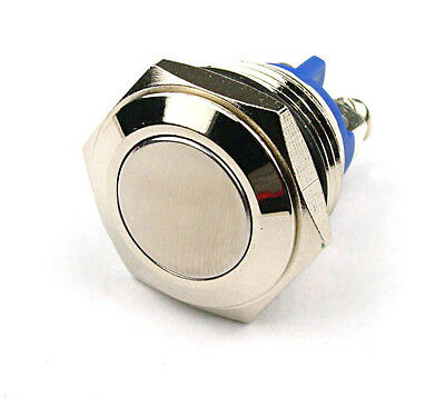 16mm Start Horn Button Momentary Stainless Steel Metal Push Button Switch J