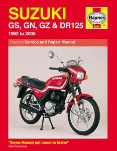 Suzuki-GS125-GN125-GZ125-DR125-1982-2005-Haynes-Manual-0888-NEW