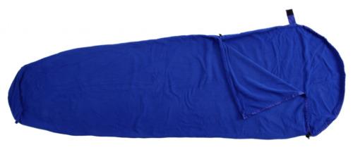 Basic Nature Fleece Schlafsack Innenschlafsack Inlett Mumienform blau