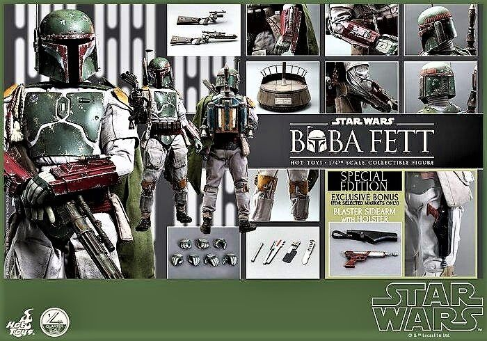 Hot Toys QS003 Star Wars EPVI Return of the Jedi Boba Fett  1 4 scale Exclusive