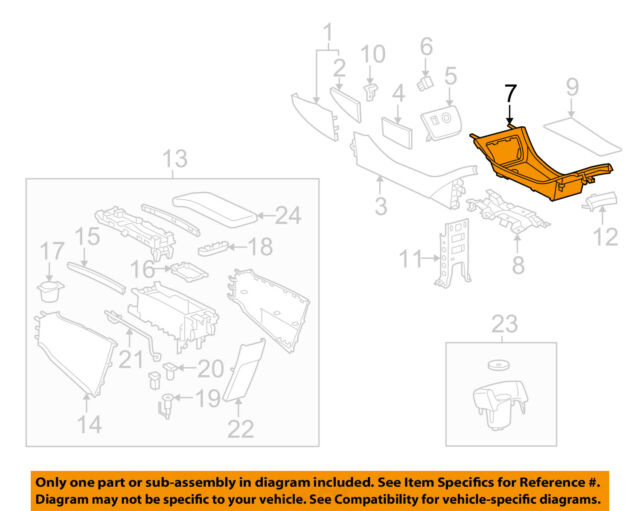 Toyota 58907-42010-B1 Console Compartment Door Hinge Sub Assembly