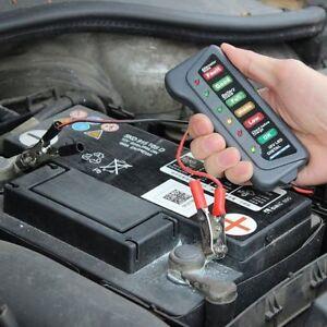 Car Motorcycle Digital Battery Tester Alternator Load 12V Vehicle 6 LED Display