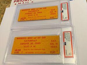 WOODSTOCK-2-AUTHENTIC-1969-PSA-9-SATURDAY-TICKETS-JANIS-JOPLIN-JIMI-HENDRIX-TYA