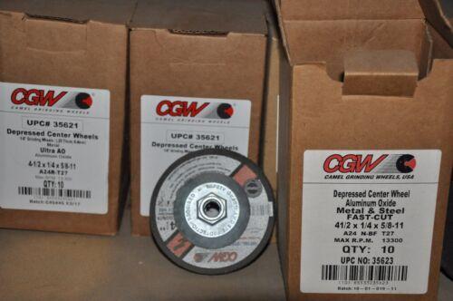 "CGW 35623 hub box of 10 fast cut 4 1//2/"" grinding wheel"