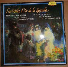 LES VOIX D'OR DE LA ZARZUELA - vinyl lp. Signed by Placido Domingo