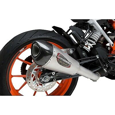 16381BP520 YOSHIMURA 16381BP520 ALPHA T Slip-on Exhaust Street SS-SS-CF with Works Finish for 2017-2018 KTM RC390 /& 390 Duke
