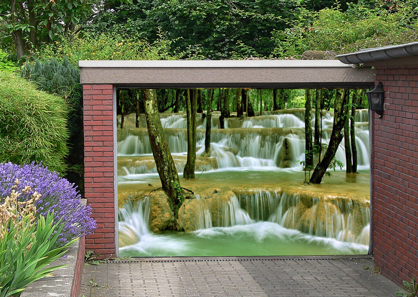 3D Great streams Garage Door Murals Wall Print Decal Wall Deco AJ WALLPAPER AU