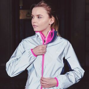 Trespass-Womens-Running-Jacket-Reflective-Water-Resistant-amp-Windproof-Coat