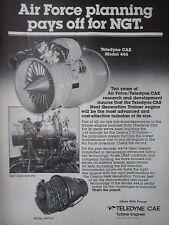 4/1982 PUB TELEDYNE CAE J69-T-25 MODEL 444 USAF CESSNA T-37 NGT TRAINER AD