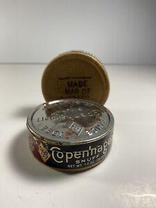 2-Vintage-Antique-Copenhagen-Snuff-Tabacco-Containers-03-07-1988P-Empty-Boxes
