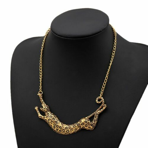 Leopard Animal Pendant Chunky Necklace Chain Women/'s Fashion Jewlery Fashion