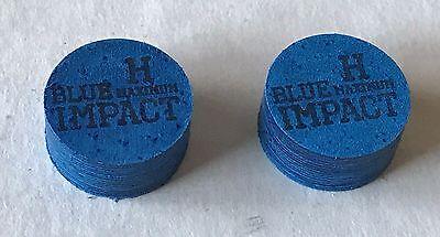 FREE Shipping 2 Tips Navigator Blue Impact Hard Maximum Premium Pool Cue Tip