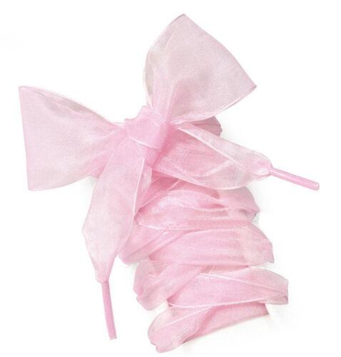 Frauen Süße Flache Mädchen Satinband Seide Schnürsenkel Elegante Mode 13 Colors