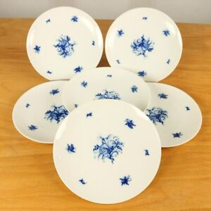 6-x-Rosenthal-Romanze-in-blau-Fruehstuecks-Kuchenteller-19-4-cm-Wiinblad-Service