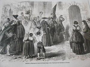 Gravure-1860-Habitants-de-Megnegnano-Duche-Parme