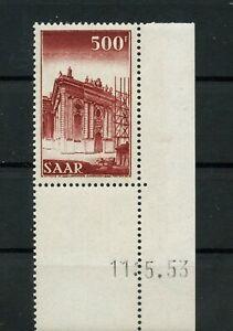 Germany-Saar-Saarland-vintage-yearset-1952-Mi-337-Br-Mint-MNH-1