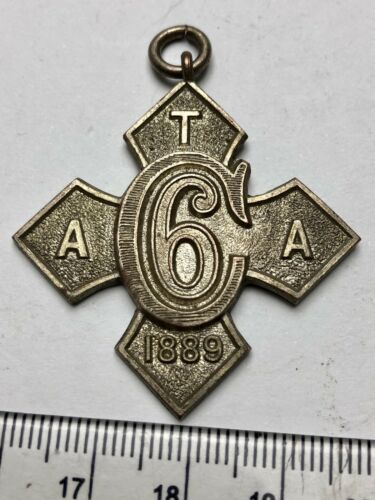 1889 Chunky White Metal Medal TAA 6C 1889 no idea what this was! B113