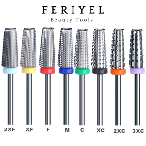 5 in 1 - Carbide Nail Drill Bit Silver ~ Feriyel Brand USA