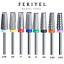 thumbnail 1 - 5 in 1 - Carbide Nail Drill Bit Silver ~ Feriyel Brand USA