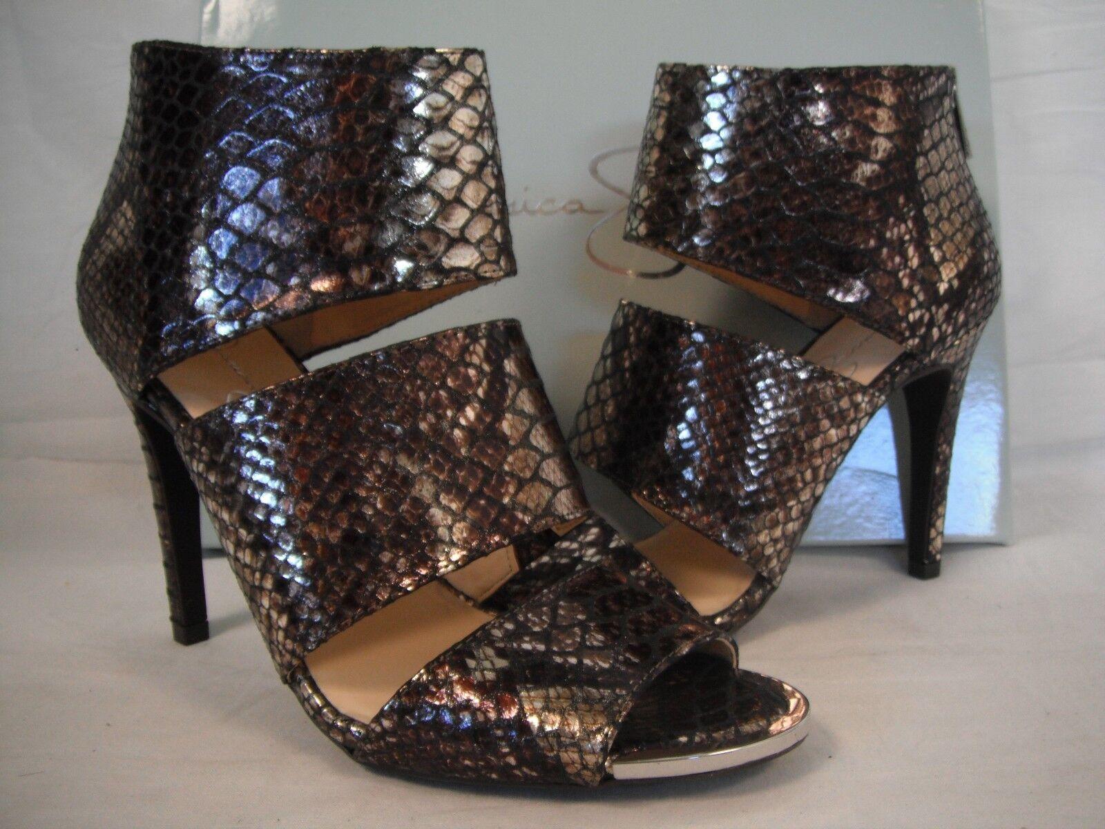 Jessica Simpson Größe 8 M Elsbeth Bronze Open Toe Heels New Damenschuhe Schuhes NWOB