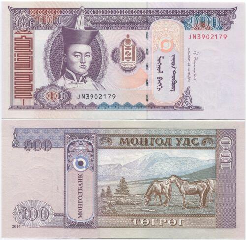Mongolia 100 Togrog 2014 UNC P-65c
