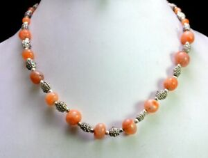 Unique-Fashion-amp-Costume-Boho-Hippie-Glass-Beads-Orange-Color-Jewelry-Necklace