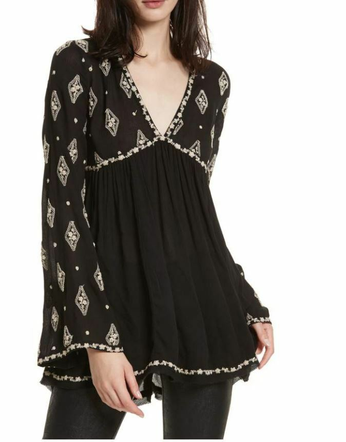 NEW Free People Diamond Embroiderot Top NWT Small