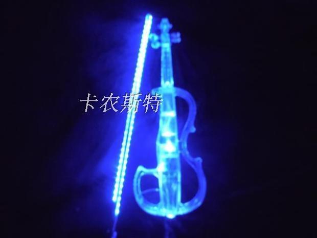 Cristal Acrílico Violín Azul LED Electrónico violín Electro-Acústica Violín 4 4 4 4  60% de descuento