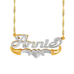 Personalized-Sterling-Silver-Script-Any-Name-Double-Plate-Necklace-w-Heart