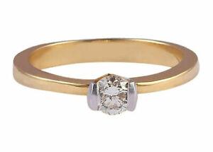 0-28-Cts-Rond-Brillante-Couper-Diamant-Solitaire-Fiancailles-Bague-En-750-18K-Or