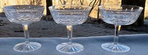 Set-of-THREE-Waterford-Crystal-Lismore-Champagne-Sherbet-Goblets