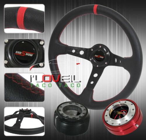 Short Quick Release Horn Button Hub Adapter 350mm Steering Wheel Deep Dish