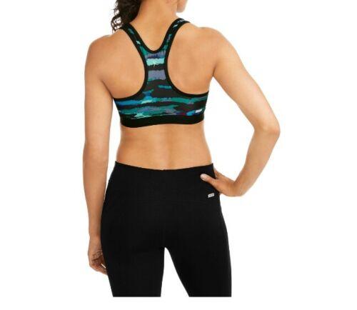 Womens DANSKIN NOW Performance Fitted Dri-More Sports Bra Size Medium 8-10 Black