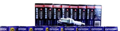 24x BRISK V12 MERCEDES 600 DOPPELZÜNDUNG SILVER CNG LPG GAS AUTOGAS ZÜNDKERZEN