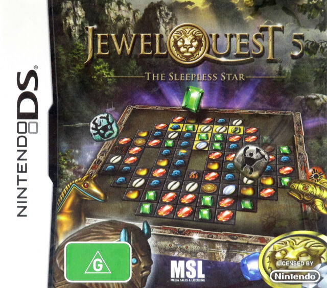 Nintendo DS Jewel Quest: The Sleepless Star (2012, PAL) - Complete