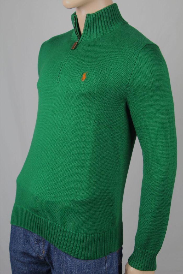 Polo Ralph Lauren Grün 1/2 Half Zip Sweater NWT Small S