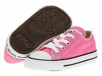 Converse Infants Pink Lace All Star Classic Sneakers Toddler/childs Size 8
