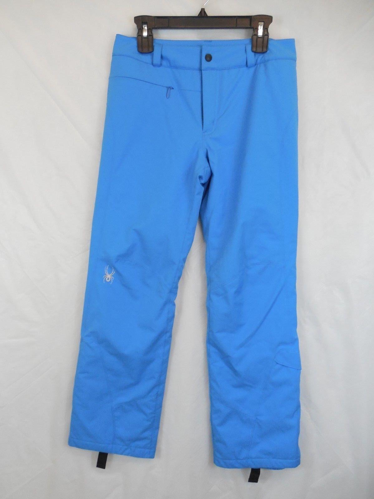 Womens 8 Spyder bluee Ski Snowboard Winner Tailored Pants Spylon 10k