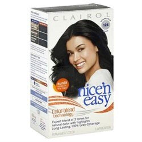 Clairol \'n Easy Hair Color 124 2bb Natural Blue Black 1 Kit (pack ...