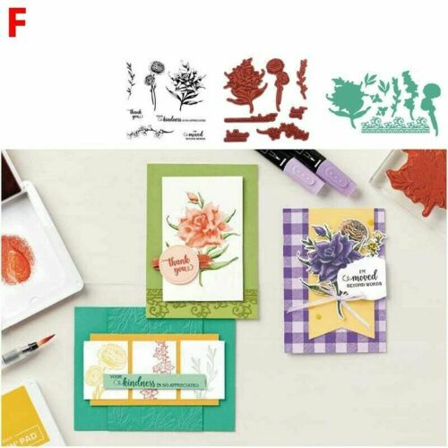 DIY Metal Cutting Flower Shape Dies and Stamps Stencils Scrapbooking Crafts